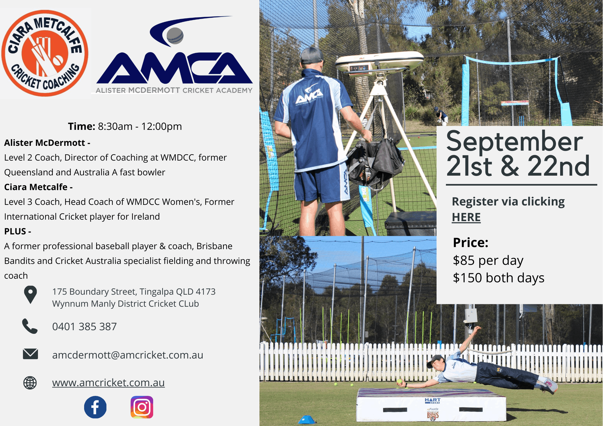 AMCA Cricket Camp September